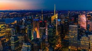 Building City New York Night Skyscraper Usa 2048x1365 Wallpaper