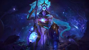 League Of Legends Riot Games Cosmic Break Huntress Nidalee Nidalee League Of Legends Space Galaxy St 7680x4320 Wallpaper
