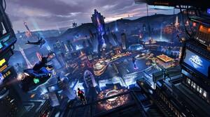 Sci Fi City 1920x1080 wallpaper