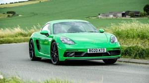 Car Green Car Porsche Porsche 718 Porsche 718 Cayman Gts Sport Car 4500x3000 Wallpaper