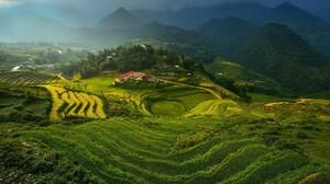 Landscape Vietnam Terraced Field High Angle 1920x1137 wallpaper