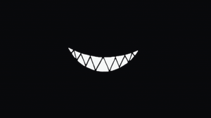 Dark Smile Pointy Teeth Smiling Cheshire Cat Simple Simple Background Black Background 1920x1080 Wallpaper