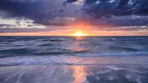 Cloud Horizon Nature Ocean Sunrise 2048x1173 Wallpaper