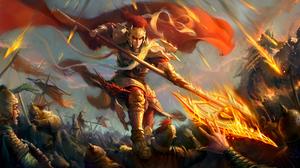 Armor Battle Oriental Warrior Weapon 5000x2898 Wallpaper