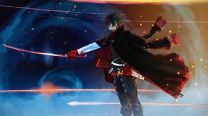 Black Hair Blood Cape Glove Hijikata Toshiz Fate Grand Order Katana Man Weapon 2000x1234 Wallpaper