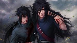 Madara Uchiha Naruto Sasuke Uchiha Uchiha Clan 3840x2400 Wallpaper