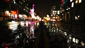 City Grand Theft Auto V Light Night Reflection 1600x900 Wallpaper
