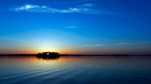 Sunset Sky Water Sunlight 1920x1080 Wallpaper