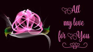 Artistic Digital Art Flower Holiday Pink Rose Valentine 039 S Day 1920x1080 Wallpaper