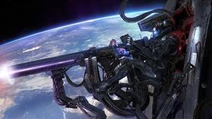 Armor Futuristic Machine Gun Space Warrior Weapon 1920x1144 Wallpaper