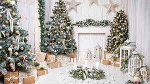 Candle Christmas Christmas Ornaments Christmas Tree Gift Lantern Still Life 5315x3543 Wallpaper