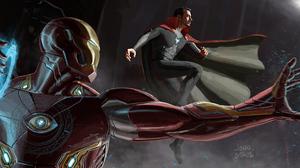 Avengers Doctor Strange Iron Man Marvel Comics 3590x1500 Wallpaper