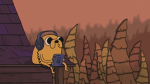 Adventure Time Jake Chill Out Vibes Music LoFi The Bootleg Boy 2 Headphones Walkman 1920x1080 Wallpaper