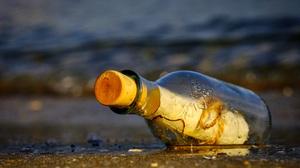 Bottle Glass Message Water 5335x3594 wallpaper
