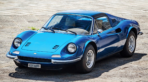 Blue Car Car Convertible Dino 246 Gts Grand Tourer Old Car Sport Car 1920x1080 Wallpaper