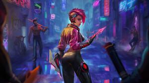 Artwork Women Science Fiction Cyberpunk 3840x2013 wallpaper