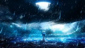 Anime Girls Lonely Waters Digital Art Original Characters Y Y 2560x1440 Wallpaper