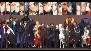 Archer Fate Zero Assassin Fate Zero Berserker Fate Zero Caster Fate Zero Gilgamesh Fate Series Irisv 2046x1024 Wallpaper