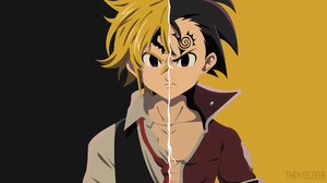 Black Eyes Black Hair Blonde Boy Meliodas The Seven Deadly Sins Minimalist Tattoo The Seven Deadly S 1980x1080 Wallpaper