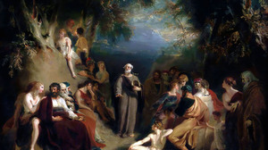 Homer Reciting His Poems Thomas Lawrence Greek Ancient Greek Ancient Greece Classic Art Painting 2500x2090 Wallpaper