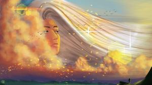 Sky Clouds Sunset Stars Portrait 3840x2160 Wallpaper
