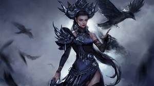 Bird Girl Raven Witch Woman 1920x1411 Wallpaper