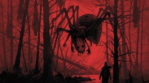 Creepy Creature Giant Night Spider Boris Groh 2000x1651 Wallpaper