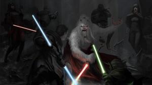 Lightsaber Jedi Yoda 1920x1097 wallpaper