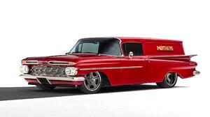 Chevrolet Sedan Delivery Hot Rod Red Car 2040x1360 Wallpaper