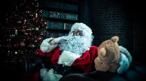 Christmas Tree Santa Teddy Bear 2000x1335 Wallpaper