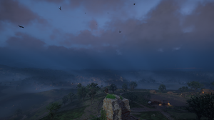 Assassins Creed Valhalla Landscape Trees Clouds Sky Mountains Water PC Gaming 3440x1440 Wallpaper