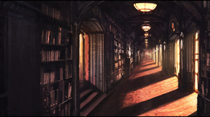 Library Sunlight 2000x918 wallpaper