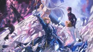 Fate Series Fate Zero Kiritsugu Emiya Irisviel Von Einzbern Gilgamesh Kotomine Kirei Saber 1920x1280 Wallpaper