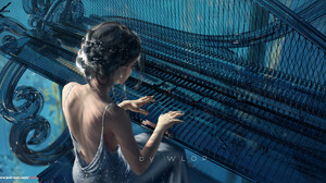 Musical Instrument Music WLOP ArtStation Fantasy Art Artwork Fantasy Girl 1892x946 Wallpaper