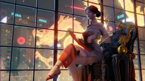 Chin Fong Digital Art Digital Dragon Cyberpunk Illustration Science Fiction Futuristic ArtStation Bl 1920x1080 wallpaper