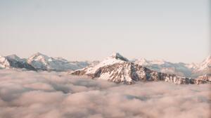 Snow Mountains Clouds Nature Landscape 5099x3399 Wallpaper