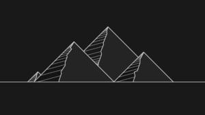 Dark Minimalism Pyramid 1920x1080 Wallpaper