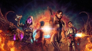 TaliZorah Liara TSoni Jack Mass Effect Garrus Vakarian 1920x1200 Wallpaper