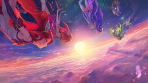 Janna League Of Legends Jinx League Of Legends Lulu League Of Legends Lux League Of Legends Star Gua 3840x2160 Wallpaper