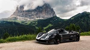 Black Car Car Pagani Pagani Zonda Sport Car Supercar Vehicle 5552x3123 Wallpaper
