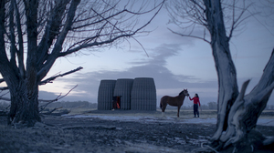 Architecture Modern House Cabin 3D Printed Horse Winter 1500x1000 Wallpaper