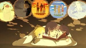 Naruto Hinata Hy Ga Boruto Uzumaki Himawari Uzumaki 2014x1110 Wallpaper