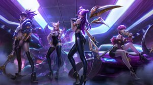 Summoners Rift Video Games League Of Legends KaiSa League Of Legends Ahri League Of Legends Akali Le 4095x2398 Wallpaper
