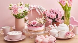 Flower Egg Cake 7043x4695 Wallpaper
