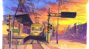 Artwork Digital Art City Train 1280x881 Wallpaper