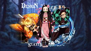 Kimetsu No Yaiba Demon Slayer Kamado Nezuko Tanjiro Kamado Kamado Tanjir Zenitsu Agatsuma 3840x2160 Wallpaper