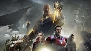 Doctor Strange Hulkbuster Iron Man Loki Thanos 2098x1236 wallpaper