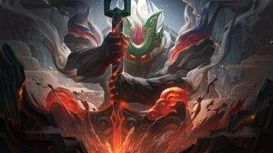 Nautilus Nautilus League Of Legends League Of Legends Riot Games Sup Chinese Support League Of Legen 4096x2304 Wallpaper