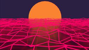Neon Sun 1920x1080 wallpaper