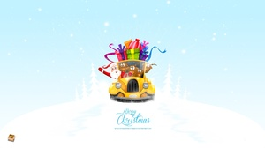 Holiday Christmas Santa Gift Reindeer Merry Christmas 2560x1440 Wallpaper